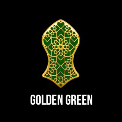 Press Pin Golden Green