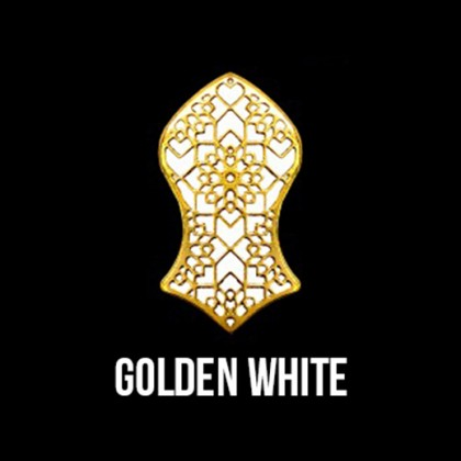 Press Pin Golden White