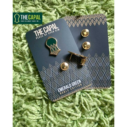 Double Pin Emerald Green