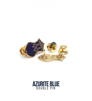 Double Pin Azurite Blue