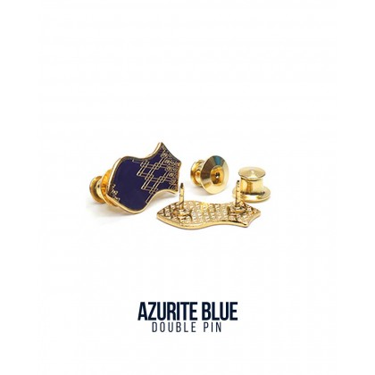 Double Pin Azurite Blue