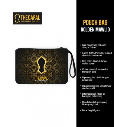 Pouch Bag Golden Mawlid