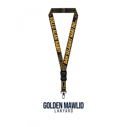 Golden Mawlid Poly Lanyard